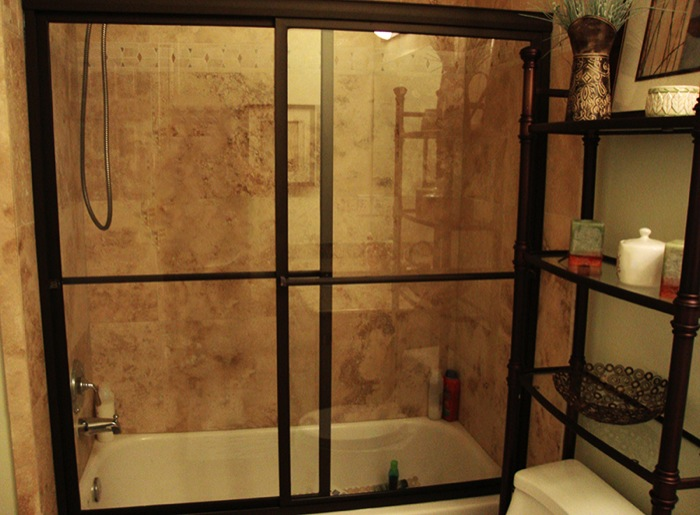 Shower Tub Slider Glass