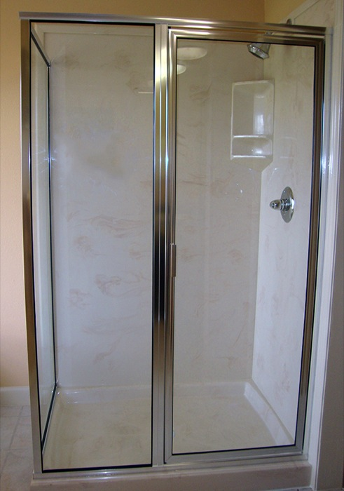 3 Pc Frame Shower Glass 2